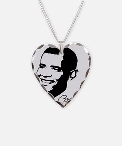 obamas Face with sig Necklace