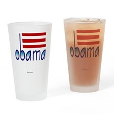 obama blue - 2012 Drinking Glass
