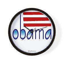 obama blue - 2012 Wall Clock