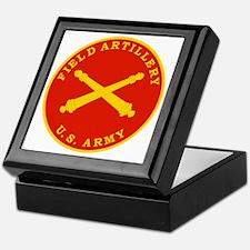 Field Artillery Seal Plaque Keepsake Box