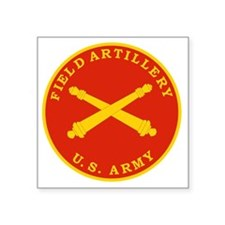 "Field Artillery Seal Plaque Square Sticker 3"" x 3"""