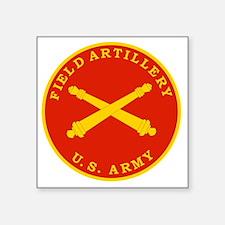 """Field Artillery Seal Plaque Square Sticker 3"""" x 3"""""""