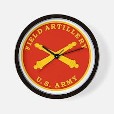 Field Artillery Seal Plaque Wall Clock
