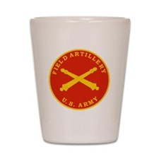 Field Artillery Seal Plaque Shot Glass