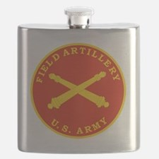Field Artillery Seal Plaque Flask