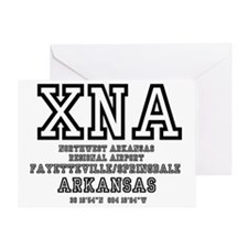 AIRPORT CODES - XNA - NORHWEST ARKAN Greeting Card