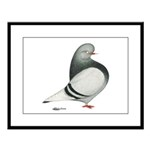 Silver Domestic Flight Large Framed Print