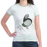Silver Domestic Flight Jr. Ringer T-Shirt