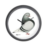 Silver Domestic Flight Wall Clock