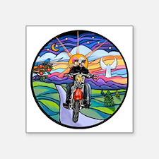 "Round-MC-Country Angel -MW2 Square Sticker 3"" x 3"""