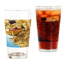 knittingChinelle_5X7_2 Drinking Glass
