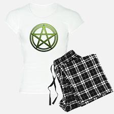 Green Metal Pagan Pentacle pajamas