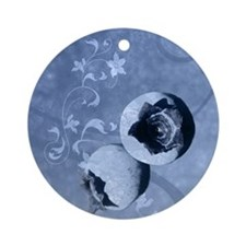 blueberry Round Ornament