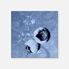 "blueberry Square Sticker 3"" x 3"""