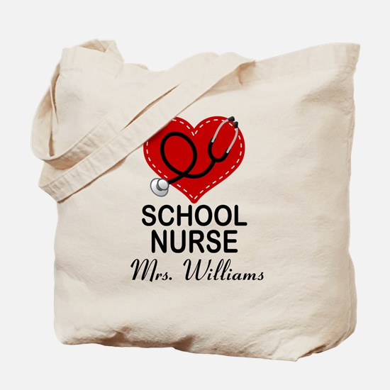 School Nurse Personalized Tote Bag