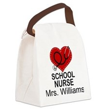 School Nurse Personalized Canvas Lunch Bag