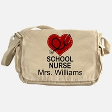 School Nurse Personalized Messenger Bag