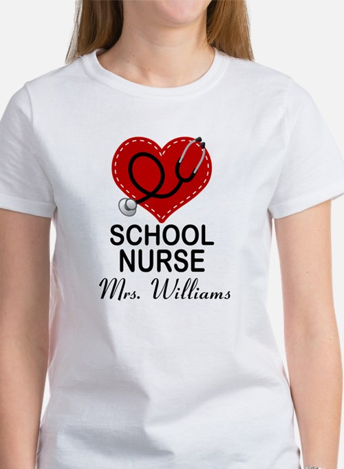 School nurse t shirts shirts tees custom school nurse for Custom school t shirts
