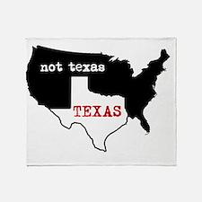 Texas / Not Texas Shirt Throw Blanket