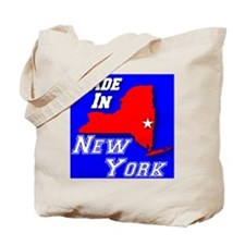 madein_newyork_rwb_whitestar_layered2 Tote Bag