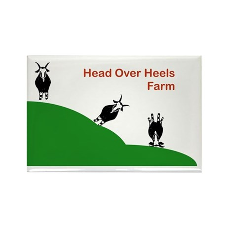 head over heels farm logo rectangle magnet by admin cp1040109. Black Bedroom Furniture Sets. Home Design Ideas