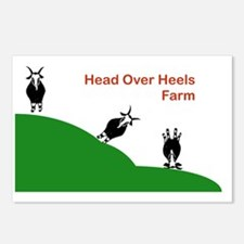 Head Over Heels Farm Logo Postcards (Package of 8)