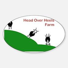 Head Over Heels Farm Logo Decal