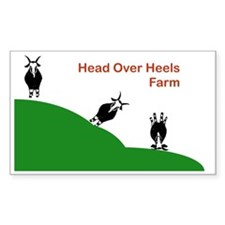 Head Over Heels Farm Logo Decal