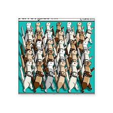 """Energizer Ferrets Square Sticker 3"""" x 3"""""""