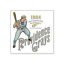 "Providence Grays Square Sticker 3"" x 3"""