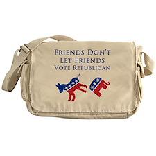 Friends Dont Let Friends Vote Republ Messenger Bag