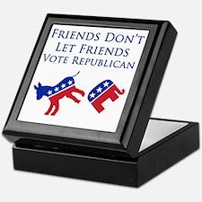 Friends Dont Let Friends Vote Republi Keepsake Box