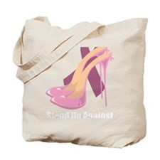 Stand-Up-Against-Breast-Cancer-blk Tote Bag