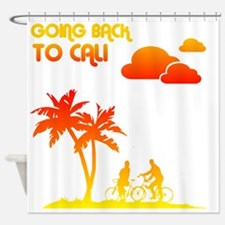 backtocalinofunky Shower Curtain