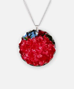 Rhodies Red 15M Rhododendron Necklace Circle Charm