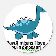 dinosaur Round Car Magnet