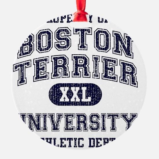 Boston-Terrier-University Ornament
