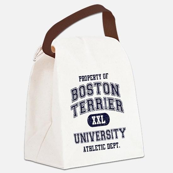 Boston-Terrier-University Canvas Lunch Bag