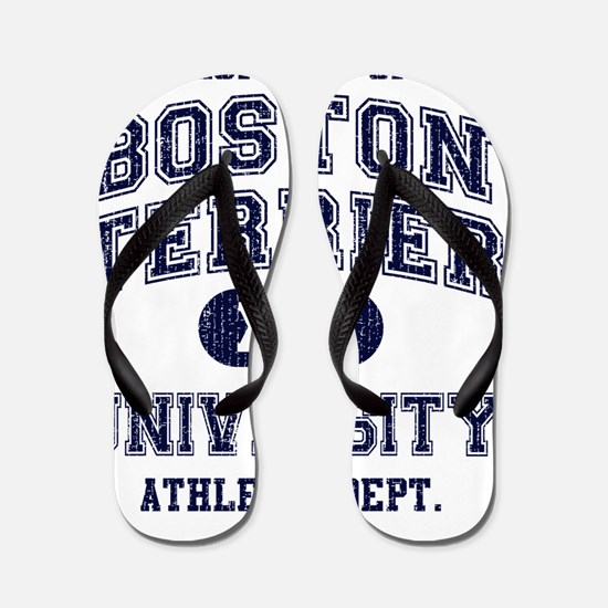 Boston-Terrier-University Flip Flops