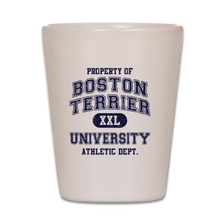 Boston-Terrier-University Shot Glass