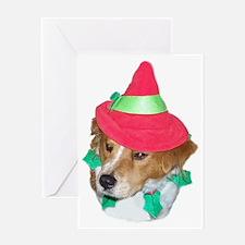 RILEY CHRISTMAS STOCKING Greeting Card