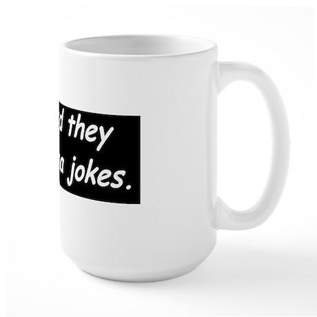 anti obama in polanddbump Large Mug