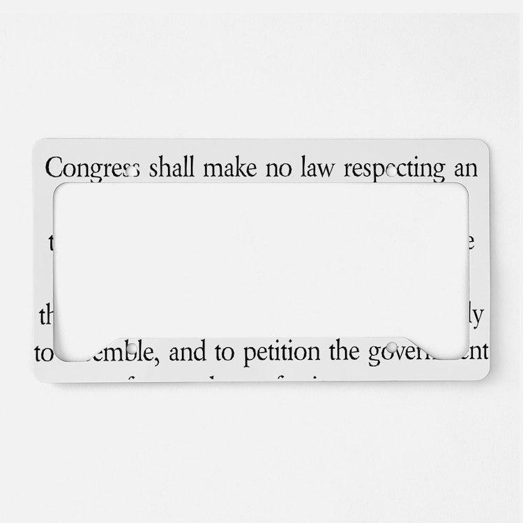 First-Amendment-(white-shirt) License Plate Holder