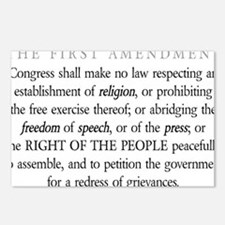 First-Amendment-(white-sh Postcards (Package of 8)