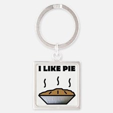 Pie small Square Keychain