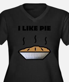 Pie small Women's Plus Size Dark V-Neck T-Shirt