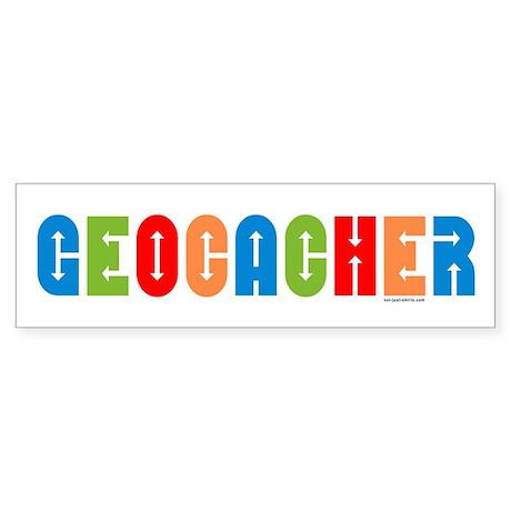 Geocacher Arrows Multi Bumper Sticker