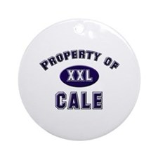 Property of cale Ornament (Round)