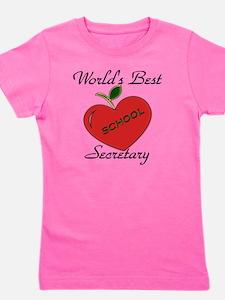Worlds Best Teacher Apple secretary cop Girl's Tee