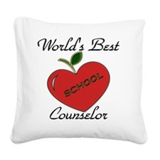 Worlds Best Teacher Apple cou Square Canvas Pillow
